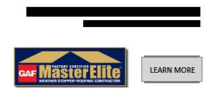 A W Restoration is GAF Master Elite Certified